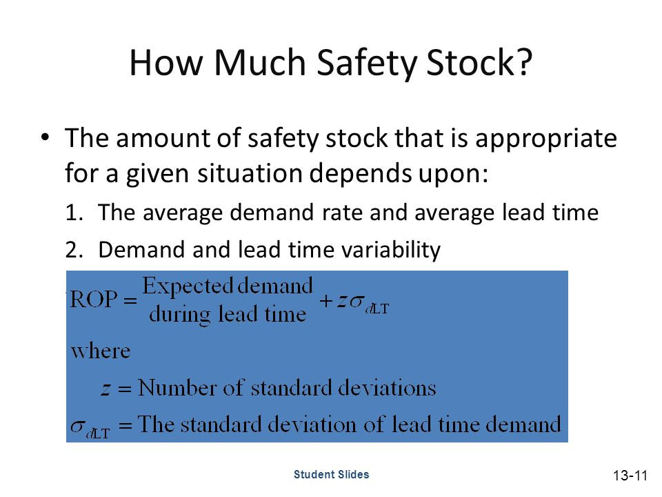 How Much Safety Stock.