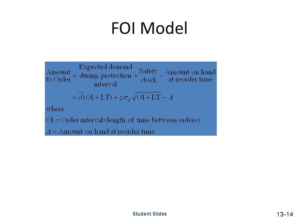 FOI Model Student Slides 13-14