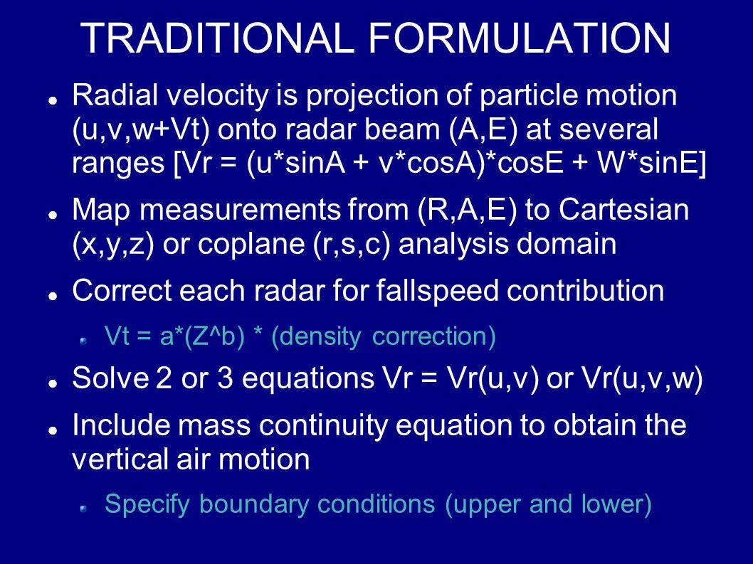 Horizontal-Vertical Resolution from Range-Elevation Angle Resolution ElevationdR*sinERdE*cosEdR*cosE- RdE*sinE 901.00*dR0.00 - 1.00*RdE 750.97*dR0.24*RdE0.24*dR- 0.97*RdE 600.87*dR0.50*RdE0.50*dR- 0.87*RdE 450.71*dR0.71*RdE0.71*dR - 0.71*RdE 300.50*dR0.87*RdE0.87*dR- 0.50*RdE 200.34*dR0.94*RdE0.94*dR- 0.34*RdE 100.17*dR0.98*RdE0.98*dR- 0.17*RdE 00.001.00*RdE1.00*dR0.00 Z = R*sinE dZ = dR*sinE + RdE*cosE H = R*cosE dH = dR*cosE - RdE*sinE dZ ~ RdE @ 0 to dR @ 90dH ~ dR @ 0 to RdE @ 90