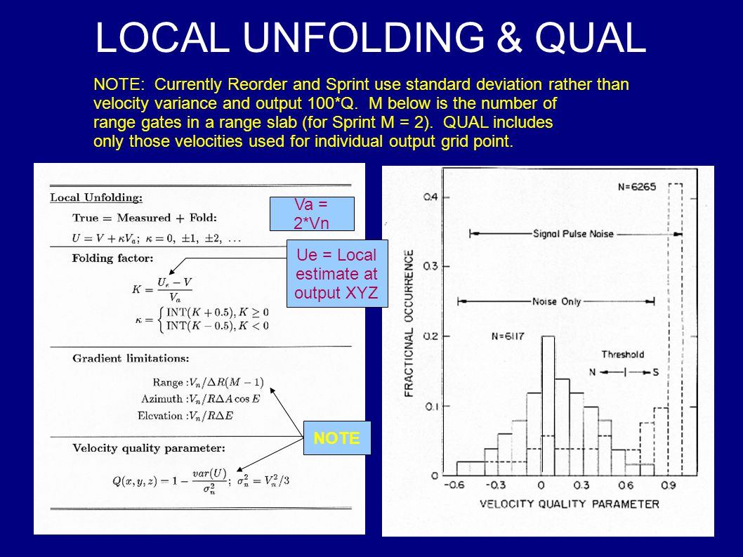 LOCAL UNFOLDING & QUAL NOTE: Currently Reorder and Sprint use standard deviation rather than velocity variance and output 100*Q.