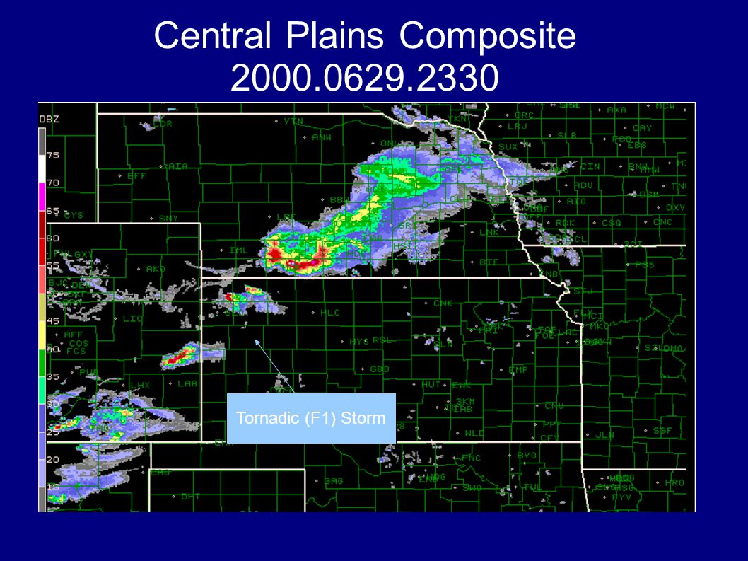 Central Plains Composite 2000.0629.2330 Tornadic (F1) Storm