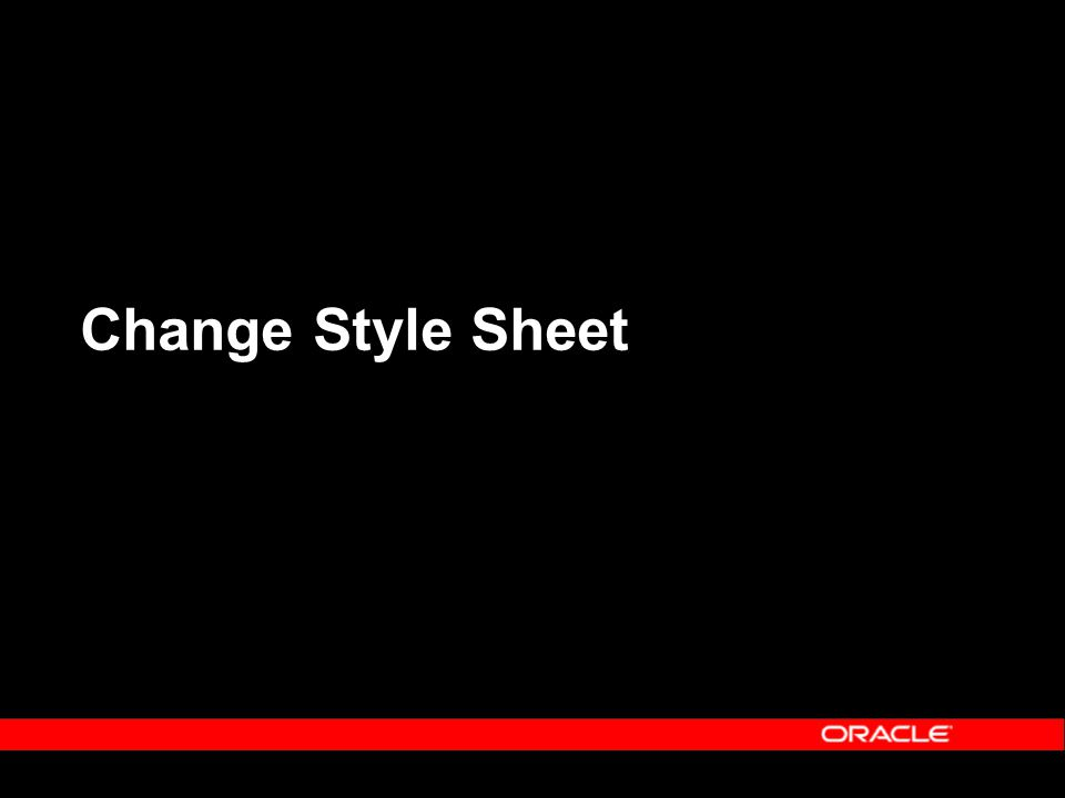 Change Style Sheet