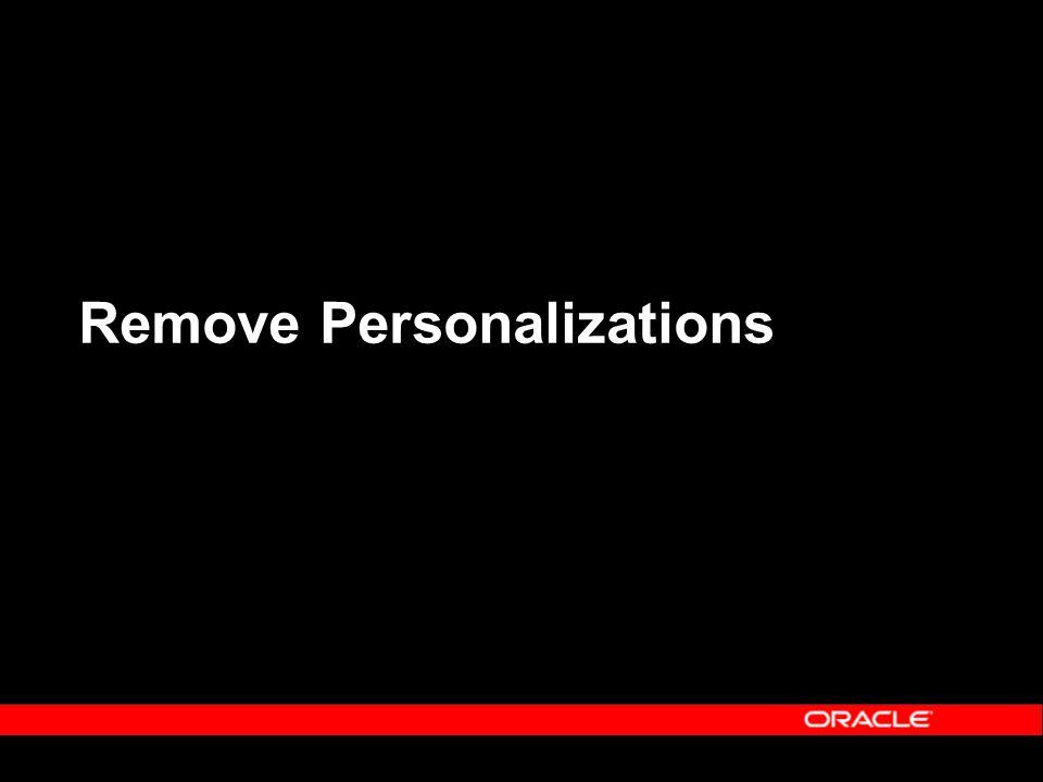 Remove Personalizations
