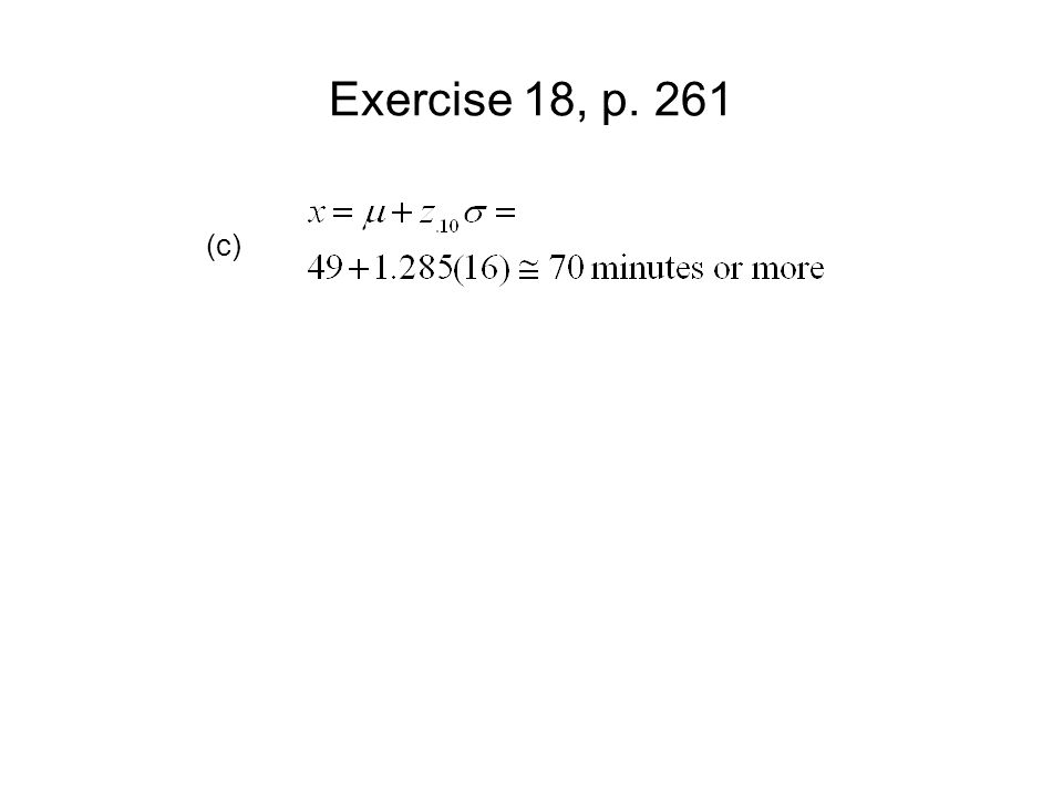 Exercise 18, p. 261 (c)