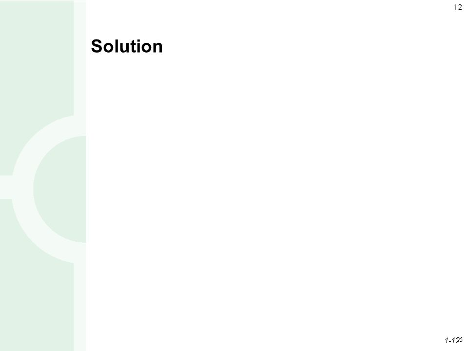1-12 12 15 Solution