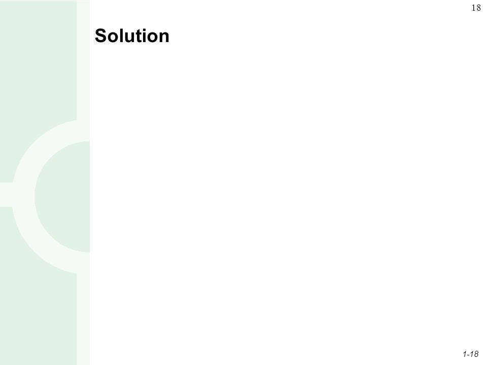 1-18 18 Solution