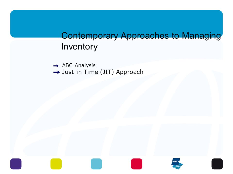 Contemporary Approaches to Managing Inventory ABC Analysis Just-in Time (JIT) Approach 32 - 3