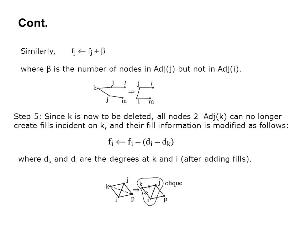 Cont. Similarly, where β is the number of nodes in Adj(j) but not in Adj(i).