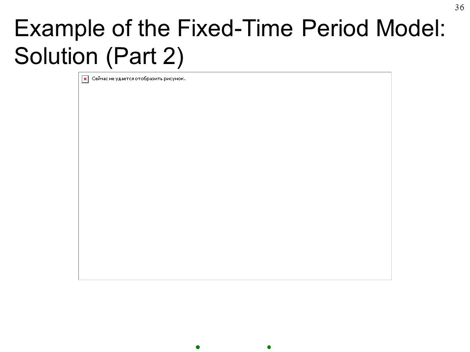 36 Example of the Fixed-Time Period Model: Solution (Part 2)