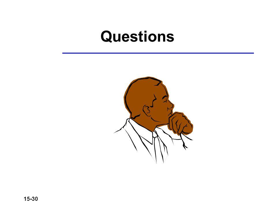 15-30 Questions