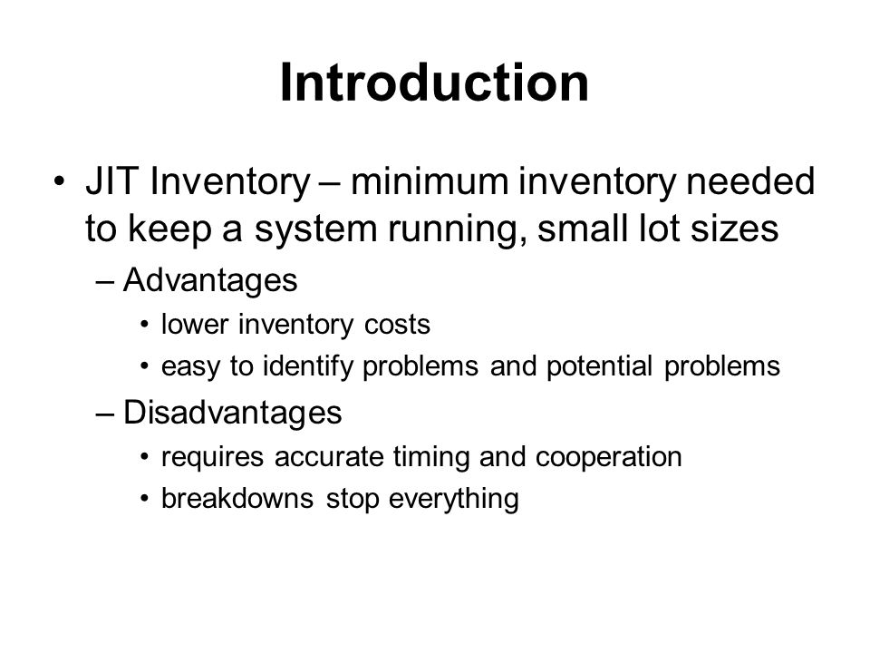 Inventory Models On Order Quantity EOQ Model (Economic Order Quantity), Fixed-Order-Quantity Model Assumptions –There is one product type –Demand is known and constant –Lead time is known and constant –Receipt of inventory is instantaneous (one batch, same time) –Shortage is not allowed