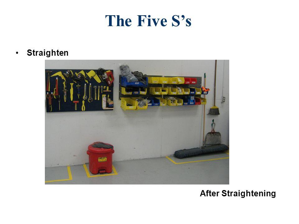 Straighten After Straightening The Five S's