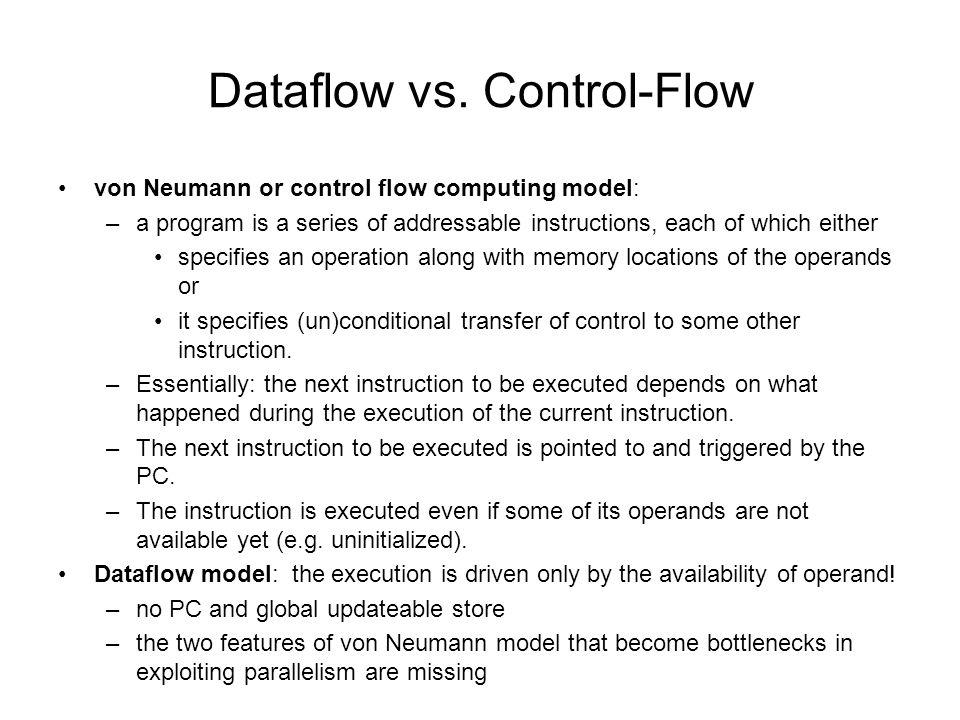 Dataflow vs.