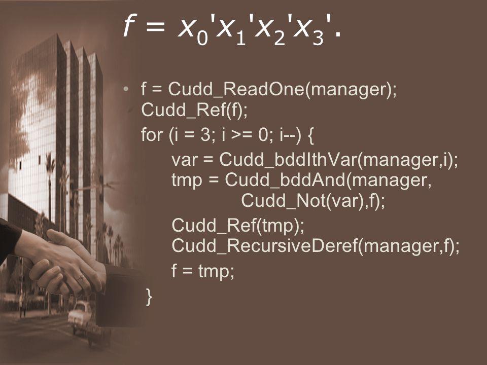 f = x 0 x 1 x 2 x 3 .