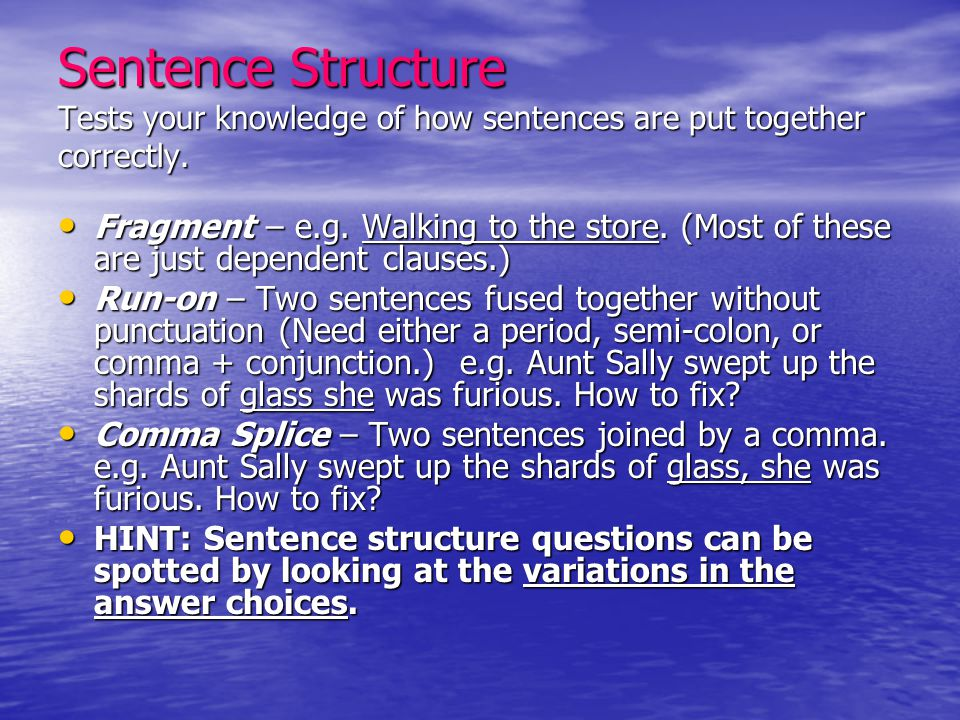 Punctuation – Clauses and Phrases Commas Separating Clauses and Phrases: Commas Separating Clauses and Phrases: –Two Independent Clauses: Mary wondered why there was a bird in the classroom and she decided to ask the teacher about it.