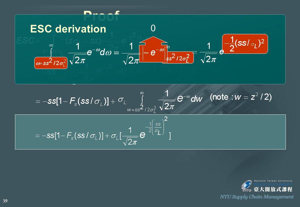 Proof ESC derivation 0 39