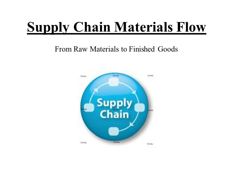 Supply Chain Materials Flow From Raw Materials to Finished Goods