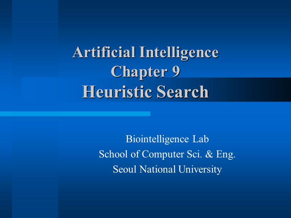 (c) 2000-2002 SNU CSE Biointelligence Lab12 Figure 9.3 Heuristic Search Notation