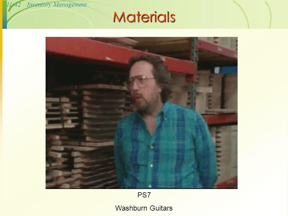 11-42Inventory Management Materials PS7 Washburn Guitars