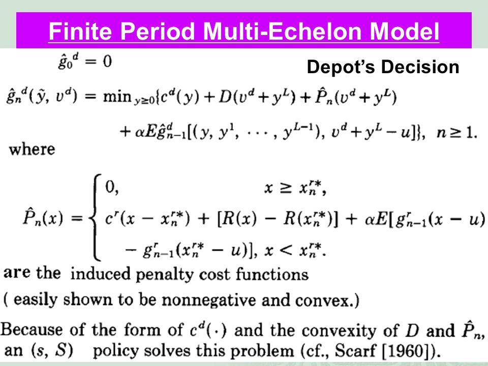 41 Finite Period Multi-Echelon Model Depot's Decision
