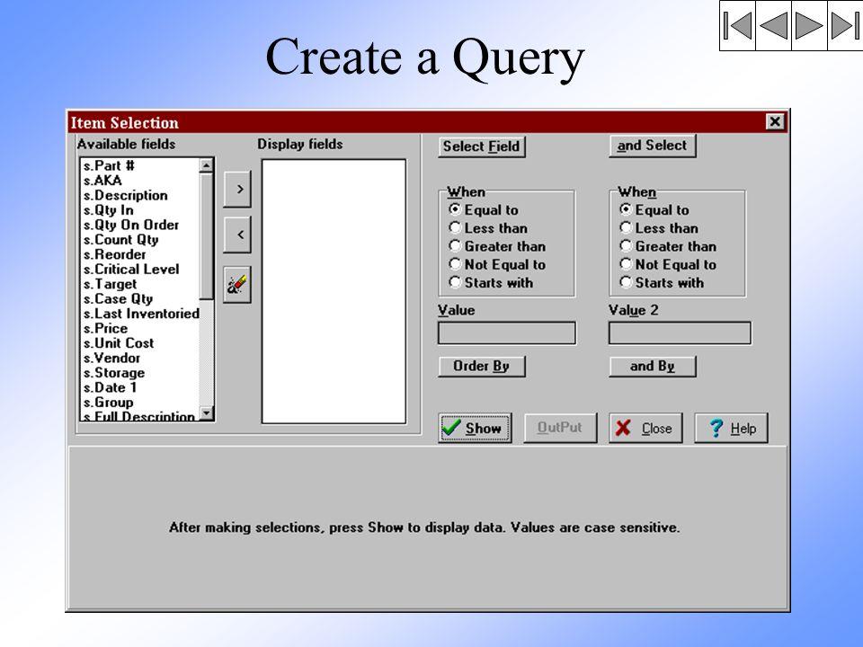 Create a Query