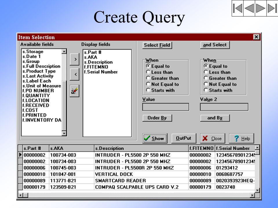 Create Query