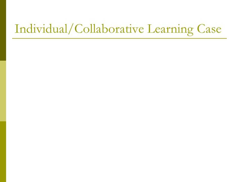 Individual/Collaborative Learning Case