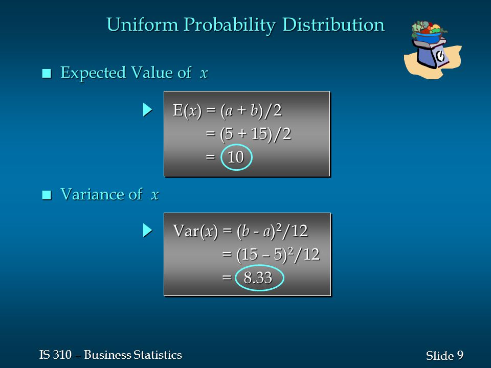 20 Slide IS 310 – Business Statistics Normal Probability Distribution n Characteristics  = 15  = 25 The standard deviation determines the width of the curve: larger values result in wider, flatter curves.
