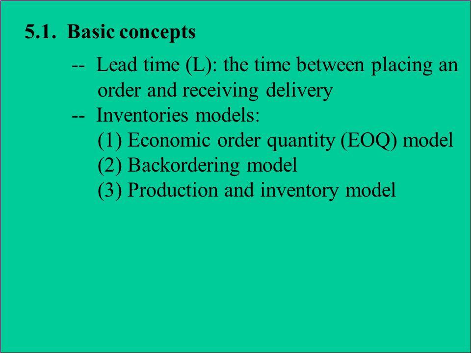 5.3.The economic order quantity (EOQ) model 5.3.3.