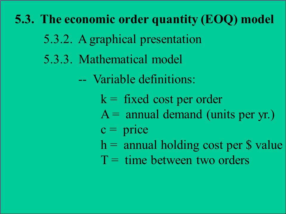 5.3.The economic order quantity (EOQ) model 5.3.4.