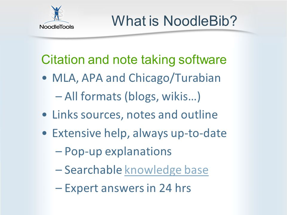 What is NoodleBib.