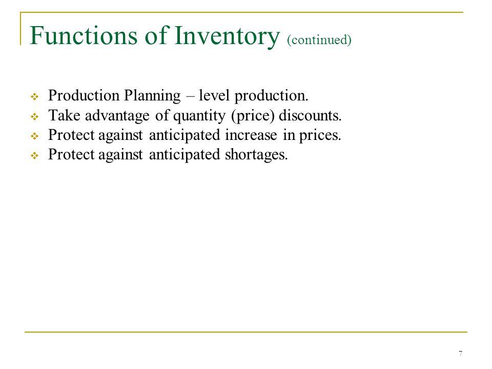 18 Economic Production (EPQ) Model