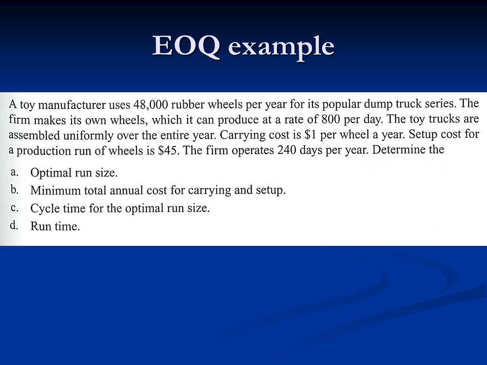 EOQ example