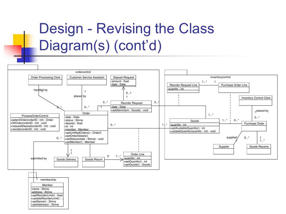 55 Design - Revising the Class Diagram(s) (cont'd)