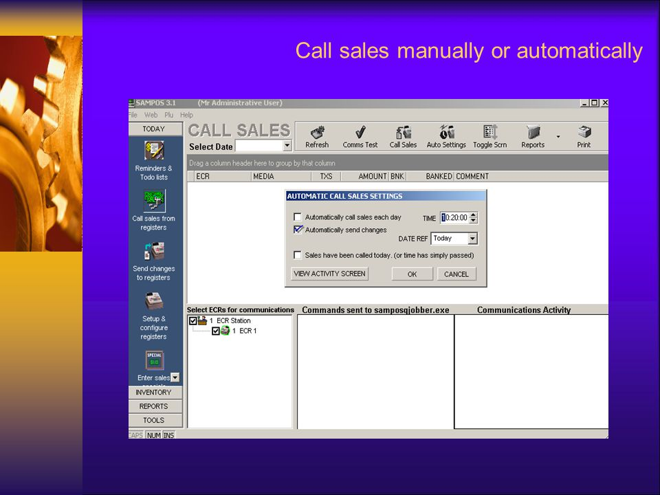 Call sales manually or automatically