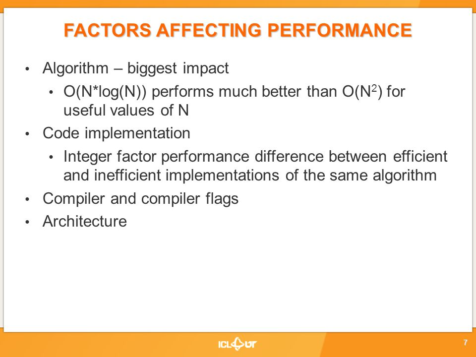 Measure & Analyze: Have an optimization phase Just like testing & debugging phase It is often skipped Budget or development time constraints PERFORMANCE OPTIMIZATION CYCLE Usage / Production Measure Analyze Modify / Tune functionally complete and correct program complete, correct and well-performing program Instrumentation Code Development 28