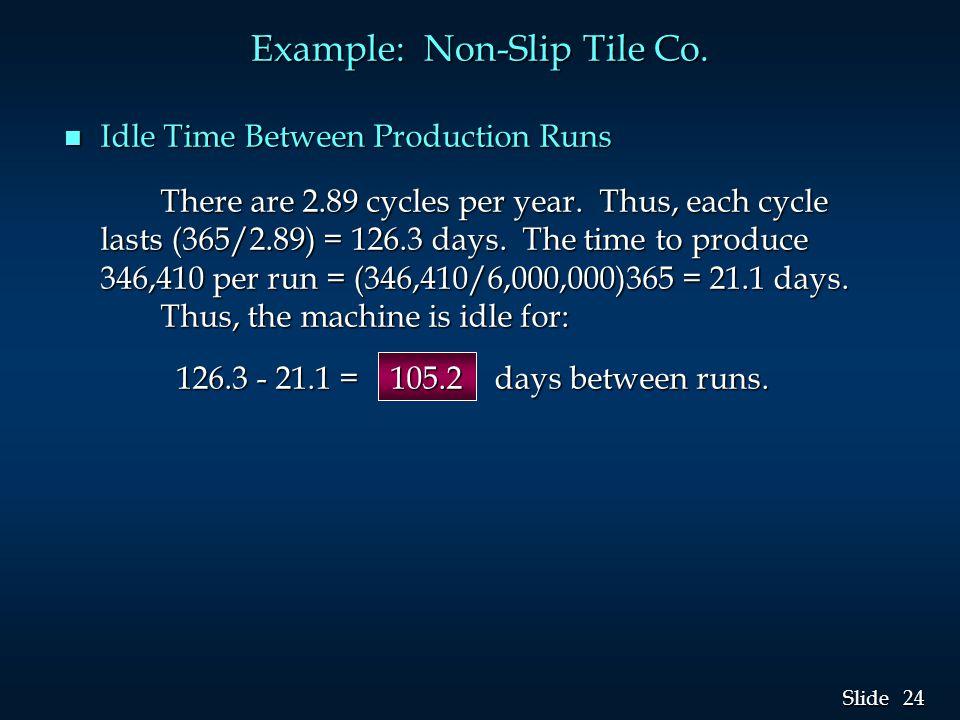 24 Slide Example: Non-Slip Tile Co.