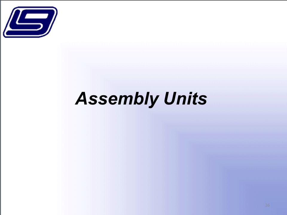 Assembly Units 36