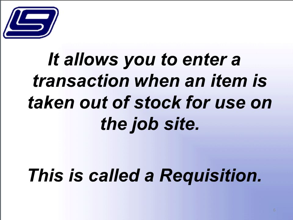 27 Item Inquiry Selectable Transactions In this example, option '3' Received was selected.