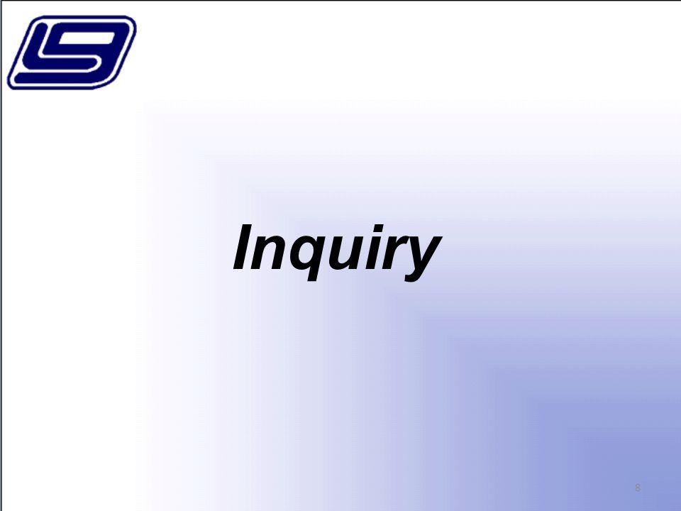 Inquiry 8