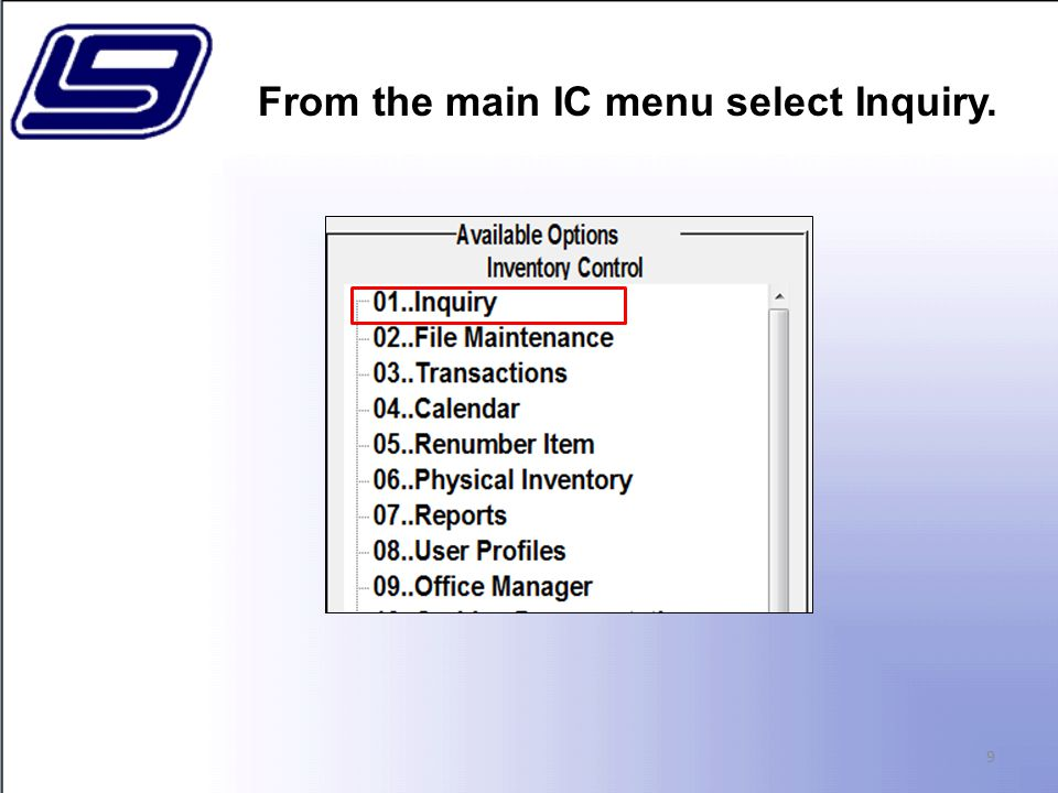 This report displays both used and received items. Detail Transaction Report