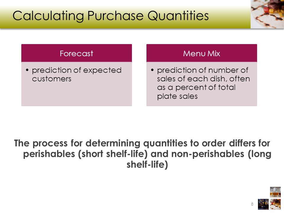 Calculating Reorder Point 29 Reorder Point Quantity Needed between Order and Delivery Safety Net Quantity