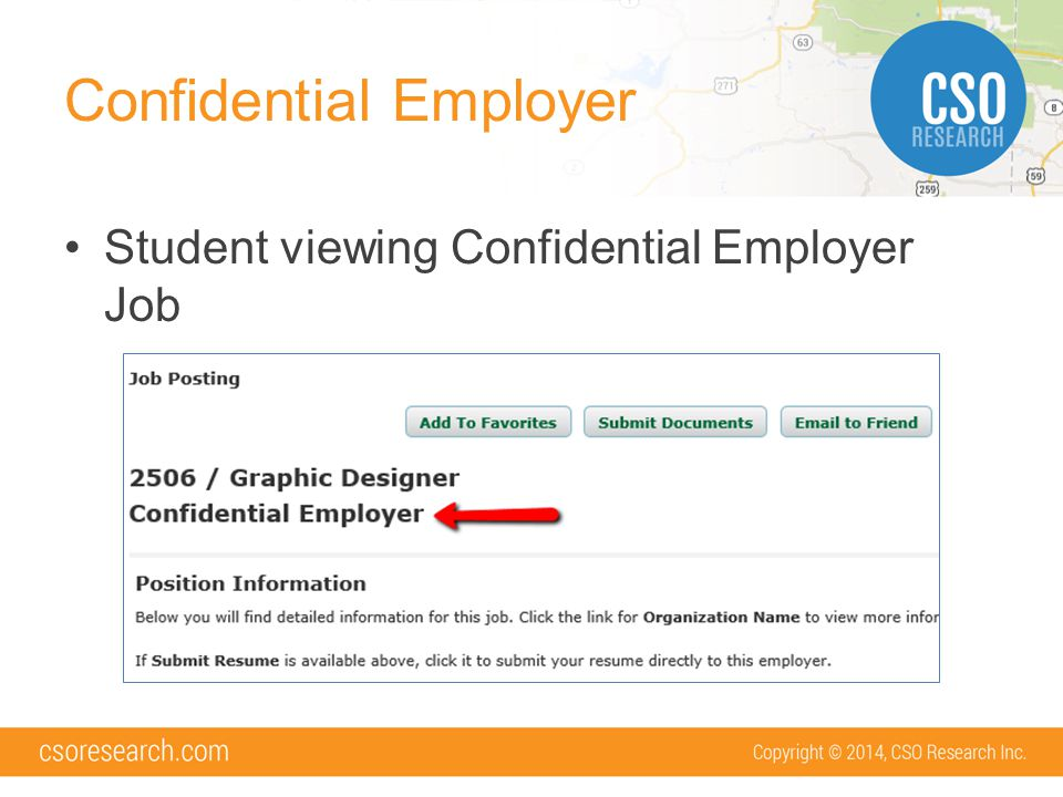 Confidential Employer Student viewing Confidential Employer Job