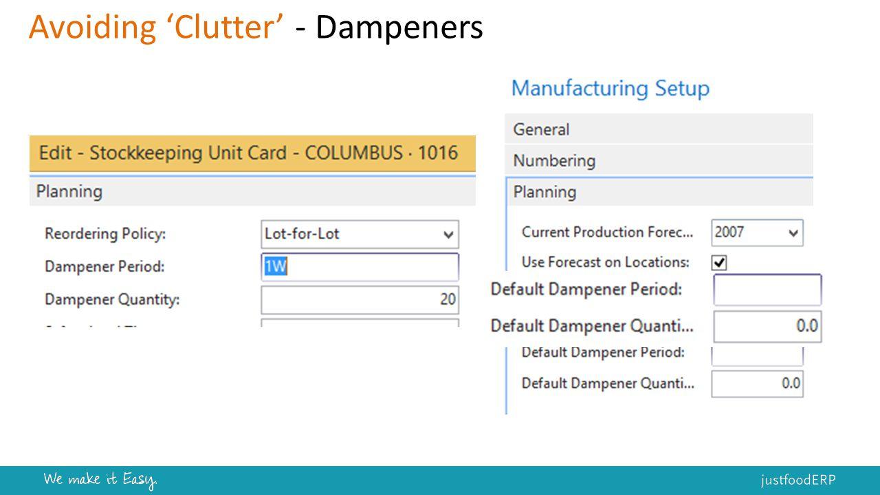 Avoiding 'Clutter' - Dampeners
