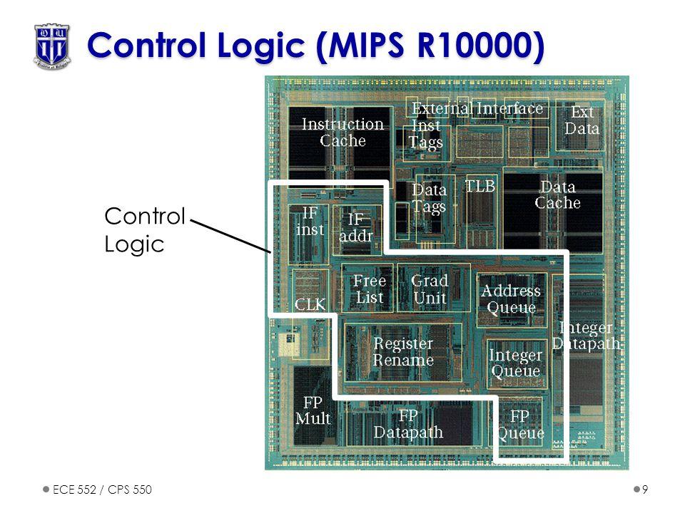 ECE 552 / CPS 5509 Control Logic (MIPS R10000) Control Logic