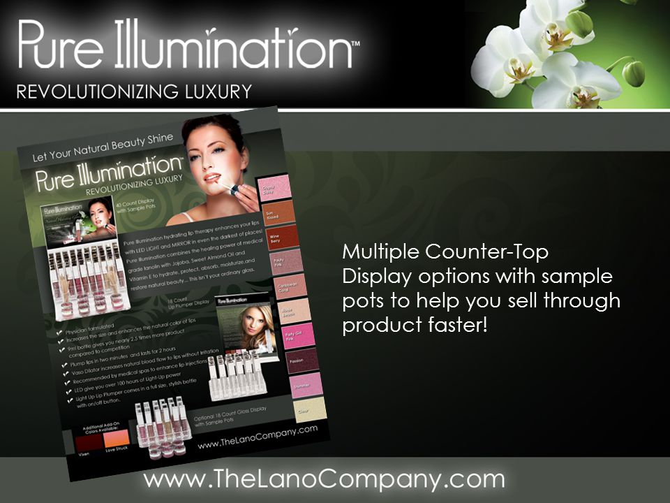 Multiple Counter-Top Display options with sample pots to help you sell through product faster!
