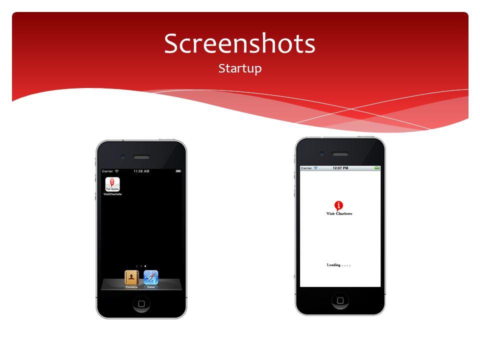 Screenshots Startup