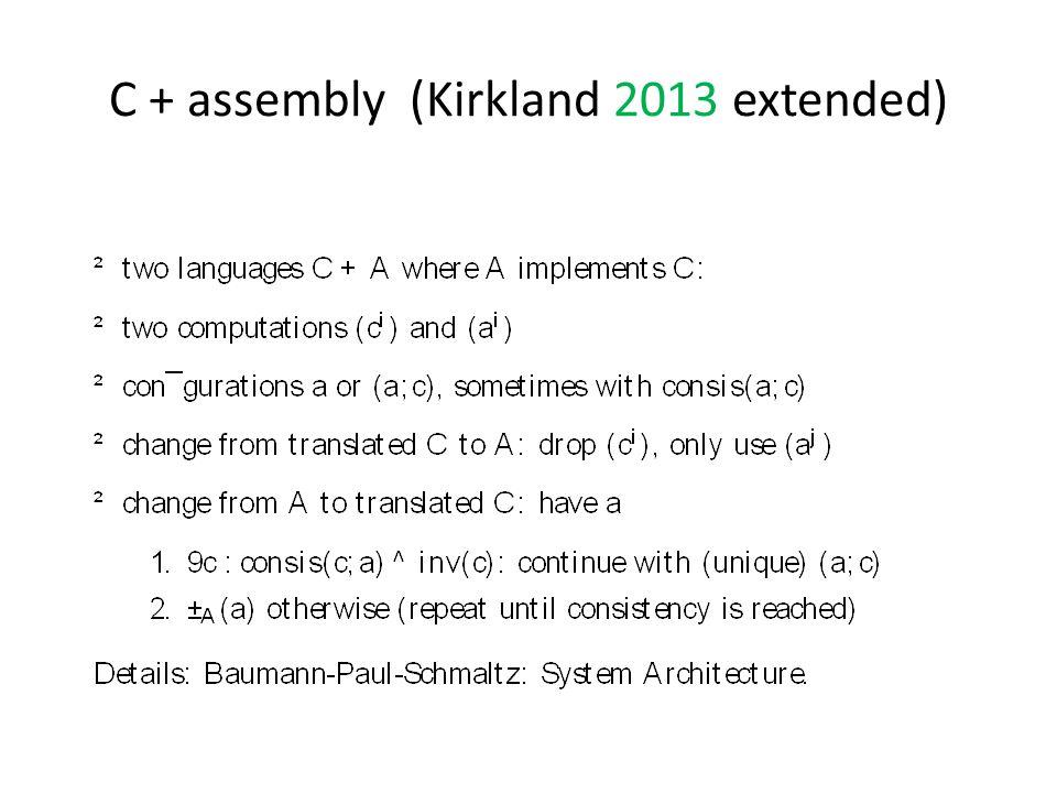 C + assembly (Kirkland 2013 extended)