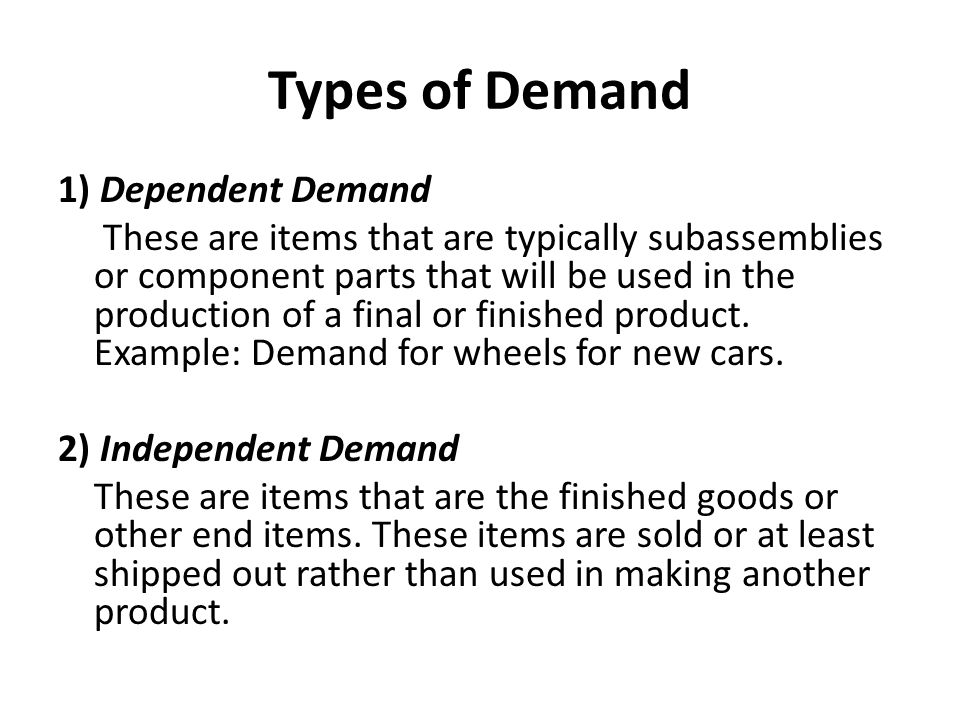 Functions of Inventory 1.To meet anticipated customer demand.