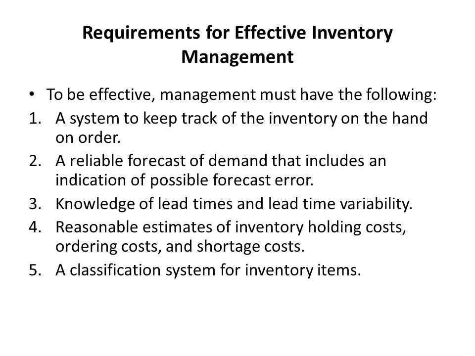 Inventory Counting Systems 1)Periodic System This is a physical count of items in inventory is made at periodic intervals (e.g.